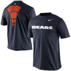 NFL Nike Chicago Bears Hypercool Speed Performance T-Shirt - Navy Blue