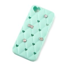 Mint Heart Customizable Charms Phone Case - iPhone 5C