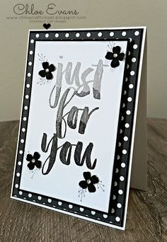 Chlo's Craft Closet - Stampin' Up! Independent Demonstrator: Can You Case It #103 - Black, White and Fun or Elegant