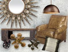 I pinned this from the Style Study: Industrial Revolution - Inspired Furniture, Accents, Lighting & More event at Joss and Main!