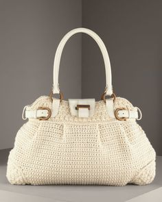 Ferragamo Bag - CROCHET - gunna have a go at mapping this out... one day :-)