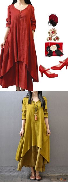 US$25.69+Free shipping. Material: Polyester. Home or out, love this sweet and casual dress. Women Dresses, Long Dresses, Dresses Casual, Dresses for Teens, Summer Dresses, Summer Outfits, Retro Fashion.