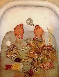 "Frida kahlo bathtub ""What the Water Gave Me"" Painting."