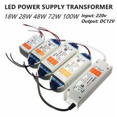 led power supply led transformer 12vdc dc12v output 6w 12w 18w 30w 50w plastic cover 220v to 12v for led strip mr11 mr16  #Affiliate