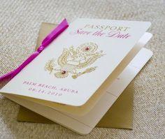 """""""passport"""" save-the-dates  - Destination Wedding for Katie???"""