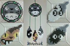 Totoro dreamcatcher perler beads by PerlerPixie