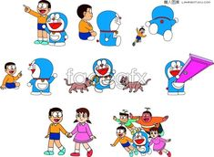 Doraemon cartoon vector