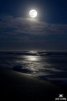 Sunset and Moonrise, Burke's Beach, Hilton Head Island, South Carolina