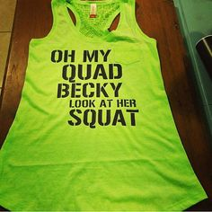 Oh My Quad Becky Look At Her Squat Workout by EmilyOliveCollection, $18.00