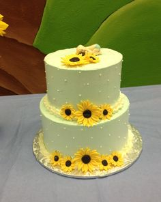 Perfect Sunflower Me Baby Shower Cake