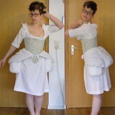 Joker Antoinette's Undies, Part Padding Galore! Marie Antoinette, Refashion, 18th Century, Joker, White Dress, Buttons, Sewing, Dresses, White Dress Outfit