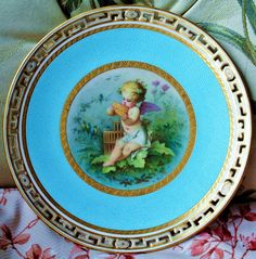 VERY RARE MINTON CABINET PLATE PAINTED BY ANTONIN BOULLEMIRE