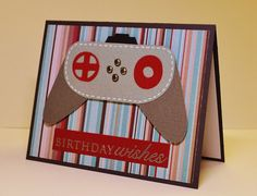 Masculine Handmade Birthday Card, Video Game, Geek Birthday, Xbox, Playstation, Nintendo, Birthday Message