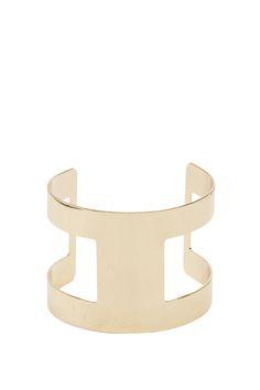 Women's Bracelets | Textured Cut-Out Metal Cuff | A'GACI