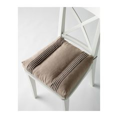 ULLAMAJ Coussin de chaise IKEA Housse en ramie, un matériau naturel très résistant à la texture légèrement irrégulière.