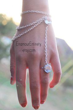 Silver+Blue+Gem+Slave+Bracelet+by+EnamourEntirety+on+Etsy,+$13.00