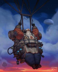 """Character Design Challenge on Instagram: """"Submission by Manuel Pong* ( @manuelpong ) for the #CDChallenge - the theme for April 2020 was…"""" Character Inspiration, Character Art, Character Design, Lucas Arts, Paratrooper, 3d Animation, Dieselpunk, Character Illustration, Traditional Art"""