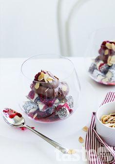 Make Australia Day different this year with decadent lamington trifle. (Photography by Amanda McLauchlan; Recipe by Georgina Kaveney). New Dessert Recipe, Dessert Recipes, Fairy Bread, Aussie Food, Australia Day, Just Desserts, Sweet Recipes, Sweet Tooth, Sweet Treats