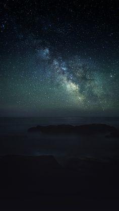AURORA STAR DARK NIGHT SKY NATURE SPACE WALLPAPER HD IPHONE