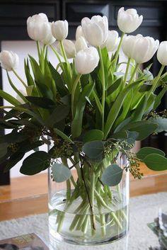 White tulips...