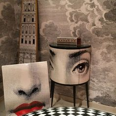 Fornasetti Milan, Nuvolette wallpaper #fornasetti #milan @fornasettiofficial #design #interiordesign #italiandesign #pierofornasetti #fornasettiwallpaper #homedecor #decor #cloudwallpaper #nuvolette #tapet #papierpeint #behang #cartedaparati
