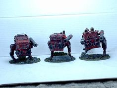 Killa Kanz, Ork, Conversion, Warhammer 40k, Bit like AT-ST's from Star Wars and the resemble Squigs too!