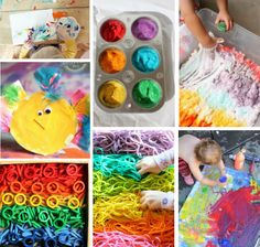 80 of the BEST Activities for 2 Year Olds. The frozen paint sticks is such an awesome idea!