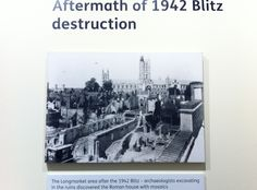 Aftermath of 1942 Blitz in Canterbury.
