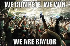 Post Baylor-TCU upset. (Final score: 61-58) // We compete, we win. We are #Baylor. #SoMuchSicEm