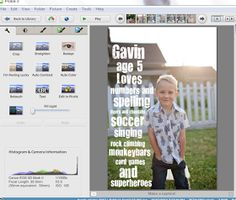 Barla Banana Blog: {Editing your own Photos. How to Create Birthday Invitations, Birth Announcements or Greeting Cards Using Picasa Photo Editor.}