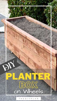 Have you ever wondered how to get your kids to eat more vegetables? If you get them involved in growing their own plants, they tend to take a much bigger interest in eating their leafy greens. But before planting, you need to get a planter and fill it with dirt. To save money, why not build your own DIY Planter Box on wheels? #diy #freeplans #projects #homedecor #furniture #woodproject #gardening #doityourself #homeimprovement #planterbox #homegarden Diy Furniture Plans, Diy Furniture Projects, Diy Home Decor Projects, Outdoor Projects, Outdoor Ideas, Interior Blogs, Diy Planter Box, Let's Have Fun, Flower Boxes