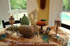 My Pineapple & Peacock Tablescape
