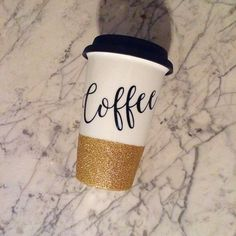 Coffee Glitter Travel Mug