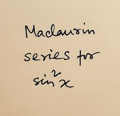 What is the power series expansion of sin x? Or in other words, derive the Maclaurin series expansion of x. Logarithmic Functions, Trigonometric Functions, Power Series, Mathematics, Meant To Be, How Are You Feeling, How To Get, Sayings, Words