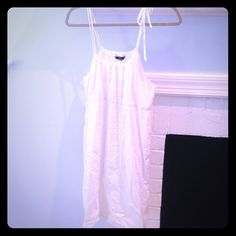 J.CREW white dress adjustable neckline that ties on the side J. Crew Dresses
