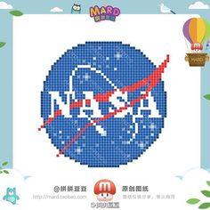NASA Logo Perler Bead Pattern