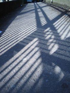 bridge lines path pattern shadows - brinjal