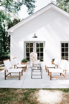 The exterior design of a home can often get overlooked, but as the first thing that welcomes both us and our guests, it is worth devoting some time tending to the outside of your house. The farmhouse exterior design totally… Continue Reading → House Design, Outdoor Living, House Exterior, House Styles, Exterior Design, New Homes, Modern Farmhouse, House Tours, Painted Brick