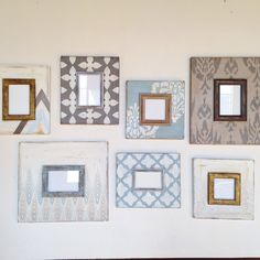 Blue and Metallic gallery Foyer Wall set of by deltagirlframes