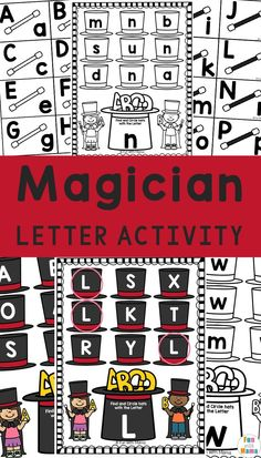 Recognizing letters at a young age is important in early learners! This Magician printable is a great way to help them learn uppercase and lowercase. Educational Activities For Toddlers, Preschool Learning Activities, Alphabet Activities, Teaching Letters, Learning The Alphabet, Carnival Activities, Learning Techniques, How To Start Homeschooling, Skills To Learn