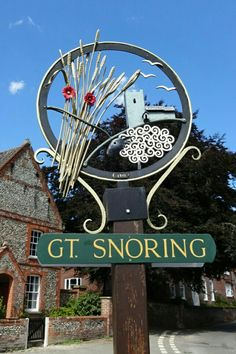 In true Norfolk fashion it's smaller than Little Snoring Norfolk England, Norfolk Coast, Street Name Sign, Norfolk Cottages, Norwich Norfolk, Town Names, Great Yarmouth, English Village, Pub Signs