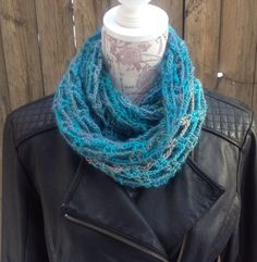 Lacey Cowl Scarf, knitted scarf, crocheted scarf, women's scarf, infinity scarf by ChicSacs on Etsy