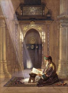 In the Mosque by Carl Friedrich Heinrich Werner