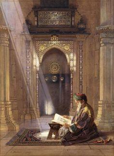 In the Mosque by Carl Friedrich Heinrich Werner