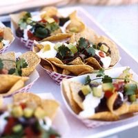 Goat Cheese Nachos, Food should look fun and inviting. Goat Cheese is a unique way of making something everyone loves with a little twist