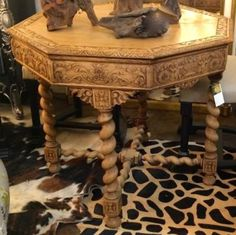 tables for sale in Dallas, Texas French Country Furniture, Country French, Vanity Bench, Painted Furniture, Mall, Buy And Sell, Carving, Antiques, City
