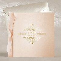 Rose Gold Wedding Invitations UK - Regina Rose Gold - Polina Perri