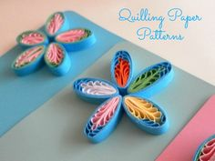 Paper Quilling Comb Patterns