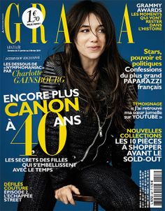 Charlotte Gainsbourg on the cover of Grazia France, January 31, 2014 #charlottegainsbourg