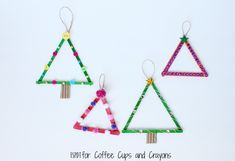You would be pretty hard-pressed to find a kid who didn't like popsicle stick crafts - especially around the holidays. The kids will have a lot of fun making this Popsicle Stick Christmas Tree with you this year. Stick Christmas Tree, Easy Christmas Ornaments, Christmas Crafts For Kids, Simple Christmas, Christmas Time, Merry Christmas, Kindergarten Christmas Crafts, Kindergarten Party, Christmas Activities For Kids